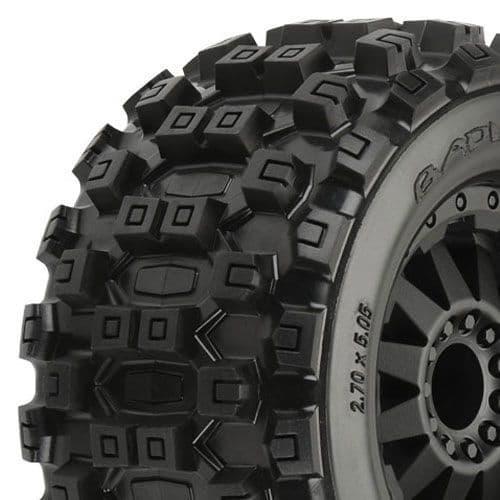 "Pro-Line Badlands Mx28 2.8"" All Terrain On Blk F11 Wheel Jato PL10125-14"