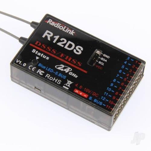 RadioLink R12DS 2.4GHz 12-Channel Receiver RLKR121001
