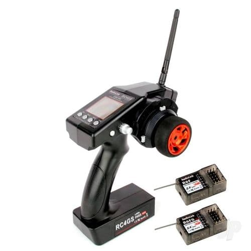 RadioLink RC4GS 2.4GHz 4-Channel Tx with 1x R6FG (Gyro Rx) and 1x R6F (Standard Rx) RLKT041000