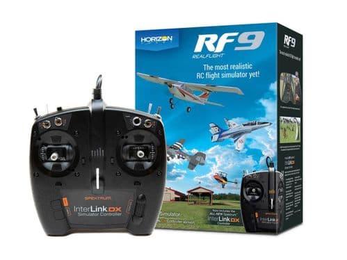 Realflight RF9 with Spektrum InterLink DX A-RFL1100