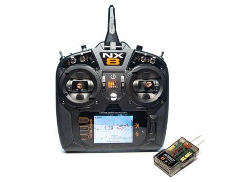 Spektrum NX8 8 Channel System w/ AR8020T Telemetry ReceiverP-SPM8200EU