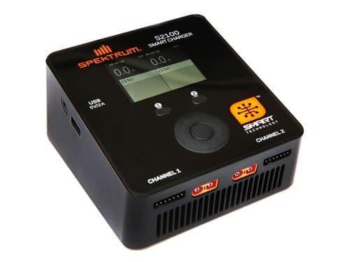 Spektrum Smart S2100 AC Charger, 2x100W (EU Plug) O-SPMXC1010I
